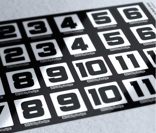 Picture of Race Numbers Decal sheet