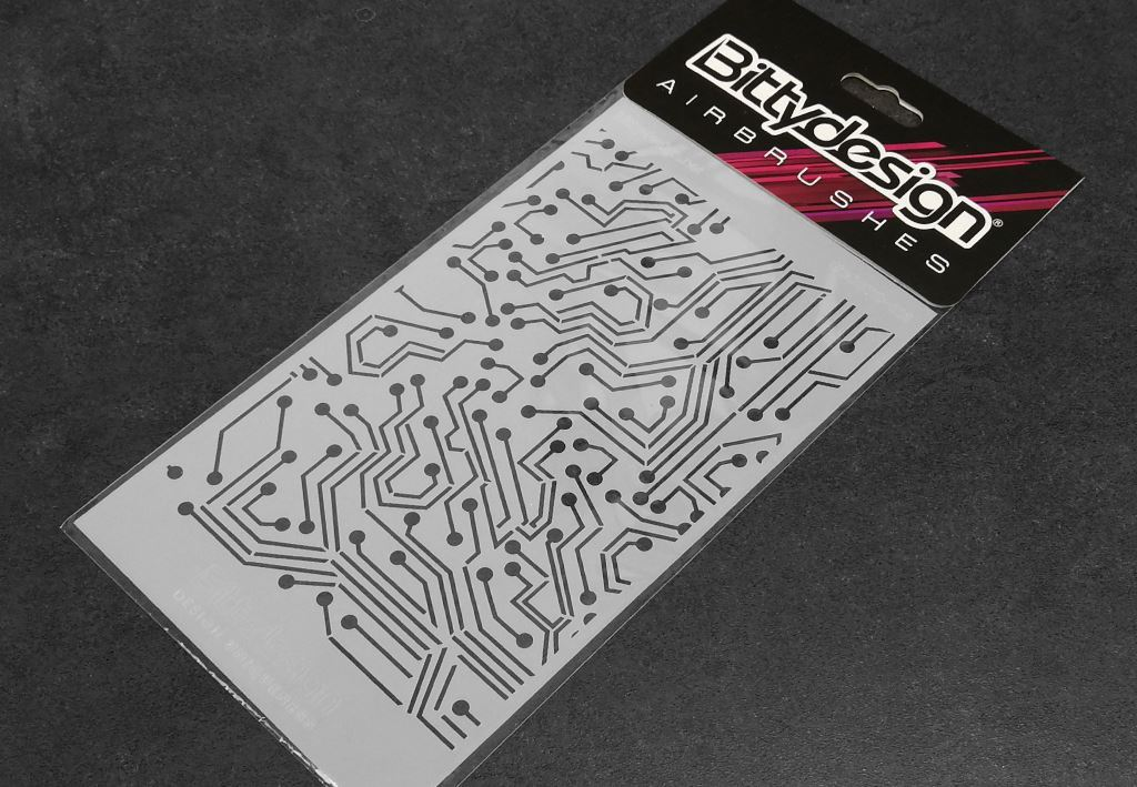 Picture of Vinyl stencil 'Electronic Circuit'