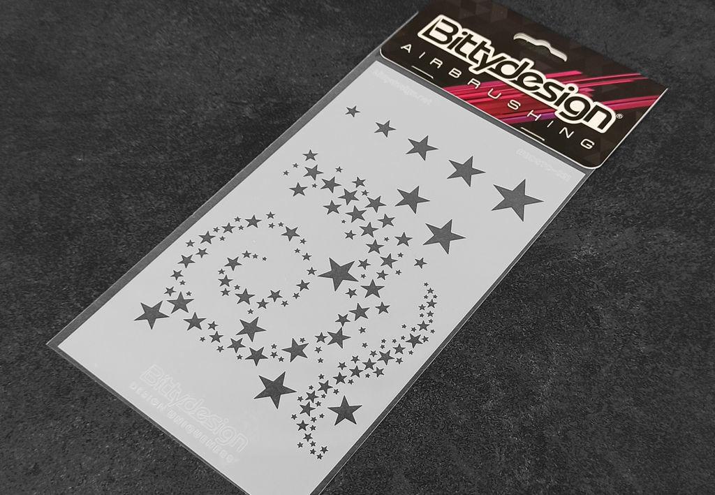Immagine di Stencil vinile 'Stars V2'