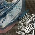 Immagine di Stencil vinile 'Zebra'