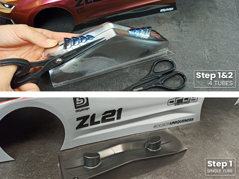 ZL21 - Cut out the exhausts of your choice
